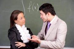 Professor e estudante novos fotos de stock