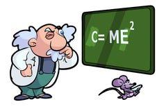Professor en muis stock illustratie