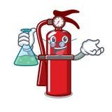Professor fire extinguisher character cartoon. Vector illustration Royalty Free Stock Image
