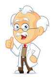 Professor Giving Thumbs Up. Clipart Picture of a Professor Cartoon Character Giving Thumbs Up Royalty Free Stock Images