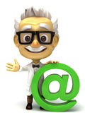 Professor with at green mark Royalty Free Stock Photos
