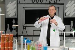Professor in het laboratorium Stock Afbeelding