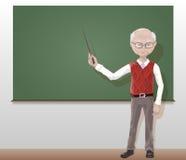 Professor idoso, professor na classe fotografia de stock