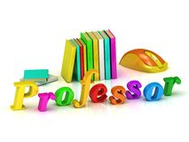 Professor inscription bright volume letter Stock Photo