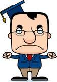 Professor irritado Man dos desenhos animados Foto de Stock Royalty Free