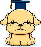 Professor irritado Puppy dos desenhos animados Foto de Stock Royalty Free