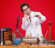 Professor in the laboratory Royalty Free Stock Image