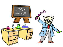 Professor on the laboratory Royalty Free Stock Photo