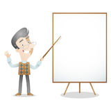 Professor lecturer blank screen Stock Images