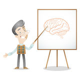 Professor lecturer brain psychology Royalty Free Stock Image