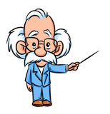 Professor lecturer illustration  cartoon Royalty Free Stock Image