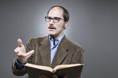Professor Lecturing Stockbild