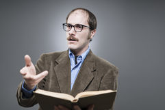 Professor Lecturing Stock Image