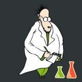 professor louco ilustração do vetor