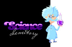 Professor louco Chemistry Foto de Stock