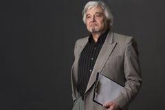 Professor man of university or colleage in studio Stock Images