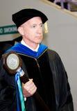 Professor met Scepter bij Graduatie Royalty-vrije Stock Foto