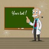Professor points to blackboard Royalty Free Stock Photo