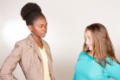 Professor preto novo com estudante adolescente Imagens de Stock