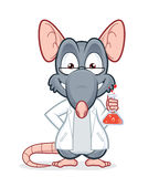 Professor rat. Vector clipart picture of a professor rat Royalty Free Stock Images