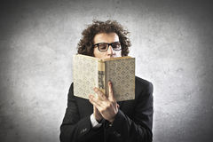 Professor Reading Stock Image