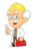 Professor Repairman. Clipart Picture of a Professor Repairman Cartoon Character Stock Photography