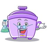 Professor rice cooker character cartoon Royalty Free Stock Photo