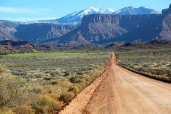 Professor Road. Landscape in Professor Valley , Utah stock image