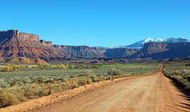 Professor Road. Landscape in Professor Valley - Utah stock photos