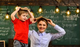 Professor and school student at the classroom in a school, Teachers possess good listening skills, Teacher is warm. Accessible enthusiastic and caring, Back to royalty free stock photos