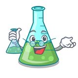 Funny Scientist With Chemical Flask Stock Vector ...