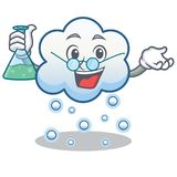 Professor snow cloud character cartoon Stock Image