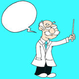 Professor -Speech Bubble - Blue Background. Whiskered Stock Photos