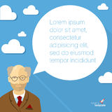 Professor with speech bubble. Royalty Free Stock Images