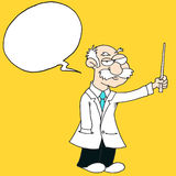 Professor -Speech Bubble - Yellow Background. Whiskered Stock Image