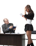 The professor and the student at examination. Stock Photography