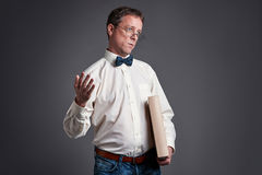 Professor surprised Royalty Free Stock Images