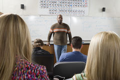 Professor Teaching In The Classroom Royalty Free Stock Photo