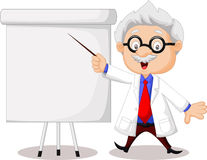 Professor teaching. Illustration of Professor teaching isolated on white Stock Photo