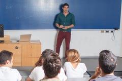 Professor teaching Stock Photo