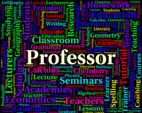 Professor Word Shows Lecturers Professors And Teaching. Professor Word Meaning Academic Lecturers And Academics Stock Images
