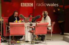 Professor Wynn Thomas on BBC Radio Wales Royalty Free Stock Photos