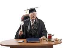 Professore di diritto nel manto del giudice immagini stock libere da diritti