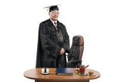 Professore di diritto nel manto del giudice fotografia stock libera da diritti