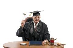 Professore di diritto nel manto del giudice immagine stock libera da diritti