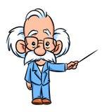 Professorlektor-Illustrationskarikatur Lizenzfreies Stockbild