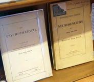 Professors Dr. Freud original writings Stock Photography