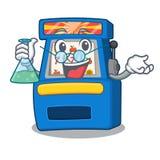 Professorsautomaat met de mascotte wordt ge?soleerd die stock illustratie