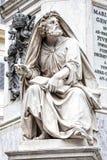 Profet Isaiah vid Revelli Kolonn av den obefläckade befruktningen, Rome italy Arkivfoto