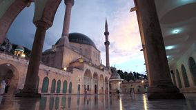 Profeta Abraham Mosque stock footage